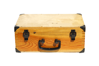 Old wooden tool box