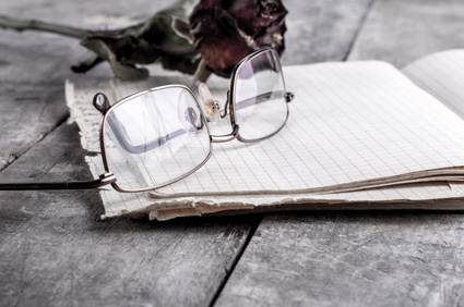 eyeglasses and rose