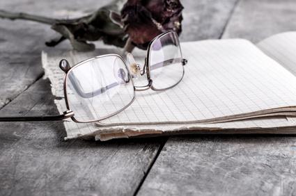 eyeglasses and rose